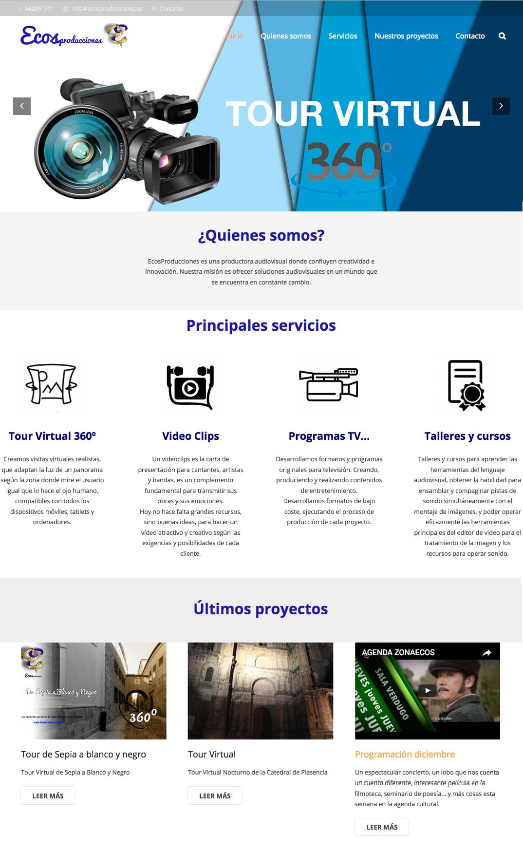 website Ecos Producciones