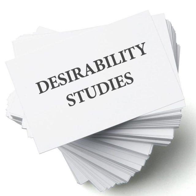 Desirability study
